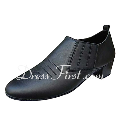 Men's Real Leather Heels Latin Ballroom Practice Character Shoes Dance Shoes (053013193)