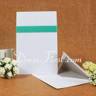 Classic Style Flat Card Invitation Cards With Ribbons (Set of 50) (114030745)