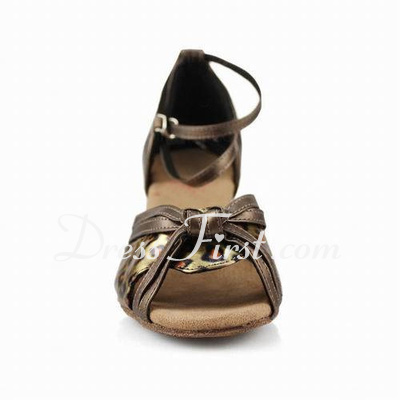 Women's Leatherette Heels Sandals Latin With Bowknot Dance Shoes (053013011)
