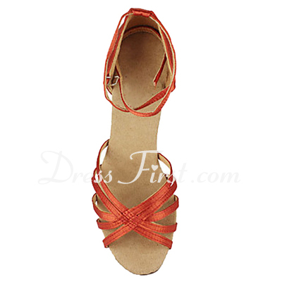 Women's Satin Sandals Latin Ballroom Dance Shoes (053013191)