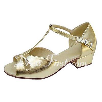 Çocuk Suni deri Sandalet Daireler Latin Ile T-Askı Dans Ayakkabıları (053013538)