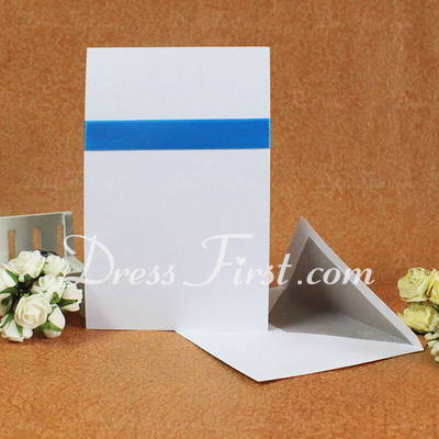 Classic Style Flat Card Invitation Cards With Ribbons (Set of 50) (114030727)