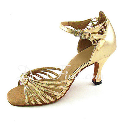 Women's Patent Leather Heels Sandals Latin Dance Shoes (053013016)