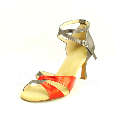 Women's Leatherette Heels Sandals Latin With Ankle Strap Dance Shoes (053013569)