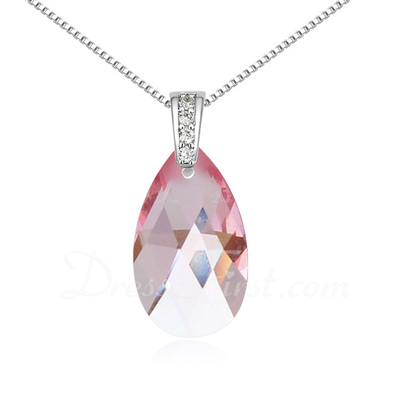 Elegant Alloy/Platinum Plated With Crystal Ladies' Necklaces (011054888)