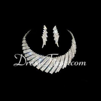 Gorgeous Alloy/Rhinestones Ladies' Jewelry Sets (011026990)