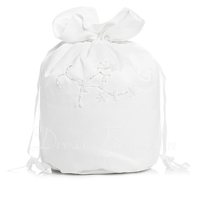 Elegant Satin With Imitation Pearl Bridal Purse (012003972)