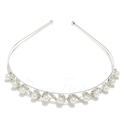 Gorgeous Alloy Pearl Headbands (042012941)