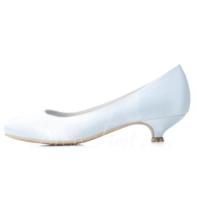 Kadın Satin Sivri Topuk Kapalı Toe Pompalar (047057088)
