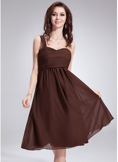 Empire One-Shoulder Knee-Length Chiffon Bridesmaid Dress With Ruffle