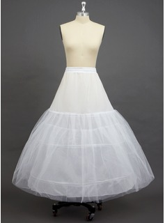 Women Tulle Netting/Polyester Ankle-length 3 Tiers Petticoats