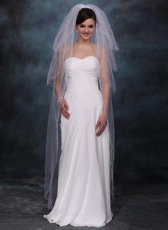 Czterowarstwowe Walc ślubny Welony Z Cięte Bez Lamówki