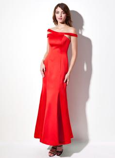 Trumpet/Mermaid Off-the-Shoulder Ankle-Length Satin Evening Dress