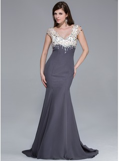 http://www.dressfirst.com/Mermaid-V-Neck-Sweep-Train-Chiffon-Charmeuse-Prom-Dress-With-Beading-018025646-g25646
