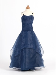 A-Line/Princess Organza With Ruffle