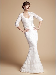 Trumpet/Mermaid Sweetheart Floor-Length Lace Wedding Dress