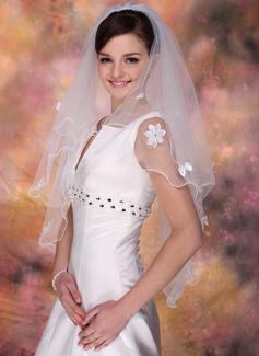 Dwuwarstwowe Elbow ślubny Welony Z Z Obrębkiem w Ząbki