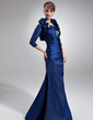 Trumpet/Mermaid Sweetheart Floor-Length Taffeta Mother of the Bride Dress With Beading Cascading Ruffles (008005939)