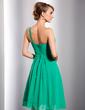Linia A/Księżniczka Jednoramienna Do Kolan Chiffon Suknia dla Druhny (007014730)