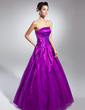 Ball-Gown Strapless Floor-Length Organza Quinceanera Dress With Ruffle (021015131)