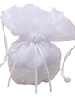 Lovely Satin With Bowknot/Imitation Pearl Bridal Purse (012026344)