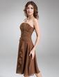 Çan/Prenses Askısız Diz Hizası Chiffon Nedime Elbisesi (007001084)