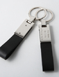 Personalized Simple Zinc Alloy/Leatherette Keychains (Set of 4) (051028927)