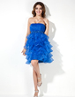 Empire Sweetheart Knee-Length Organza Homecoming Dress With Beading Cascading Ruffles (022020627)