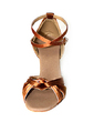Women's Satin Heels Sandals Latin With Ankle Strap Dance Shoes (053013257)