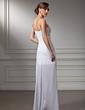 Sheath/Column Sweetheart Asymmetrical Chiffon Prom Dress With Ruffle Beading (018022506)