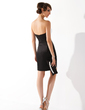 Sheath/Column Sweetheart Short/Mini Satin Cocktail Dress (016008560)