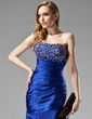Trumpet/Mermaid Sweetheart Floor-Length Charmeuse Evening Dress With Ruffle Beading Sequins (017004431)