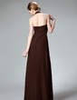 Sheath/Column Halter Floor-Length Chiffon Bridesmaid Dress With Ruffle (007001743)