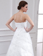 A-Line/Princess Strapless Chapel Train Lace Wedding Dress With Beading (002000344)