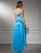 A-Line/Princess Sweetheart Asymmetrical Tulle Homecoming Dress With Beading Sequins (022008137)