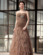Trumpet/Mermaid Sweetheart Floor-Length Tulle Mother of the Bride Dress With Ruffle Beading (008018738)
