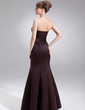 Trumpet/Mermaid Sweetheart Floor-Length Satin Bridesmaid Dress With Ruffle (007001866)