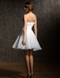 Empire Sweetheart Short/Mini Organza Homecoming Dress With Ruffle Flower(s) Sequins (022008146)