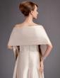 Çan/Prenses Askısız Uzun Etekli Charmeuse Nedime Elbisesi Ile Büzgü (007000902)