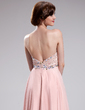 A-Line/Princess Sweetheart Floor-Length Chiffon Prom Dress With Beading Sequins (018018821)