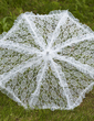 Graceful Lace Wedding Umbrellas With Embroidery (124036910)
