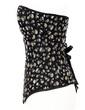 Denim Strapless Lace-Up/Front Busk Closure Shapewear (125039675)