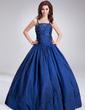 Duchesse-Linie Bodenlang Taft Quinceañera Kleid (Kleid für die Geburtstagsfeier) mit Perlen verziert Pailletten (021002868)