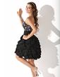 Linia A/Księżniczka Kochanie Do Kolan Chiffon Sukienka na Zjazd Absolwentów (022011159)
