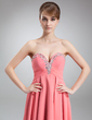 Empire Sweetheart Asymmetrical Chiffon Prom Dress With Beading (018020947)