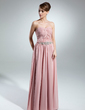 A-Line/Princess Sweetheart Floor-Length Chiffon Mother of the Bride Dress With Ruffle Beading (008015535)