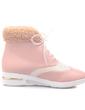 Suni deri Düz Topuk Ayak bileği Boots Ile Bağcıklı ayakkabı (088057284)