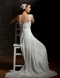 Empire Sweetheart Asymmetrical Chiffon Wedding Dress With Ruffle Lace Beading Sequins (002001659)