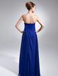 Yüksek Bel Kalp Kesimli Uzun Etekli Chiffon Mezuniyet Elbisesi Ile Büzgü Boncuklama (018015633)