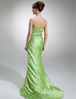 Trumpet/Mermaid Sweetheart Sweep Train Charmeuse Mother of the Bride Dress With Ruffle Beading (008006284)